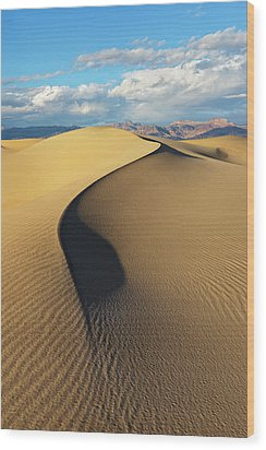 Wood Print featuring the photograph Death Valley - Golden Wave by Francesco Emanuele Carucci