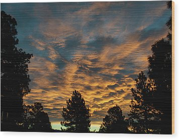 Golden Winter Morning Wood Print