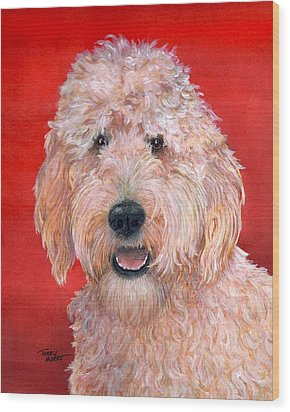 Goldendoodle Wood Print