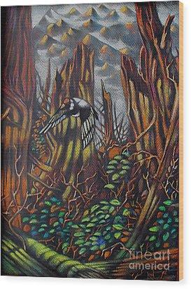 Goldfinch Wood Print