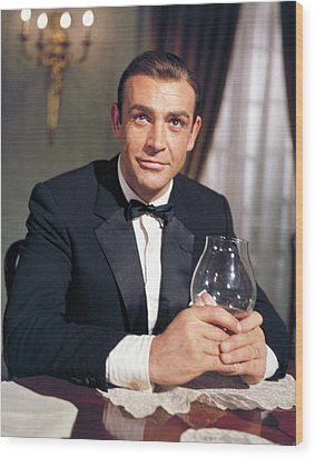 Goldfinger, Sean Connery, 1964 Wood Print by Everett