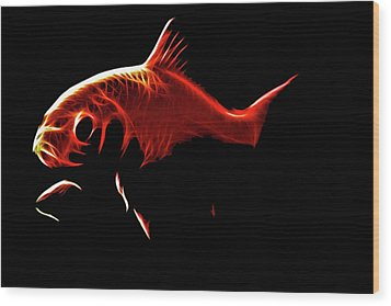 Goldfish 1 Wood Print by Tilly Williams