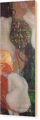 Goldfish Wood Print by Gustav Klimt