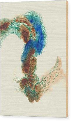 Goldfish - #ss14dw025 Wood Print by Satomi Sugimoto