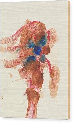 Goldfish- #ss14dw029 Wood Print by Satomi Sugimoto