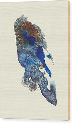 Goldfish- #ss14dw033 Wood Print by Satomi Sugimoto