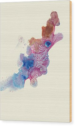 Goldfish- #ss14dw034 Wood Print by Satomi Sugimoto