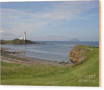 Golf At Turnberry Scotland Wood Print by Jan Daniels