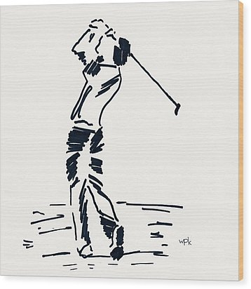 Golf I Wood Print by Winifred Kumpf