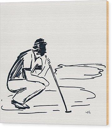 Golf IIi Wood Print by Winifred Kumpf