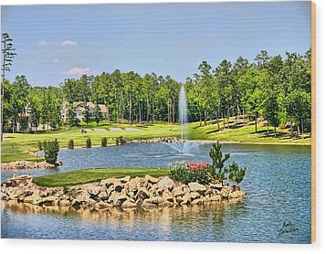 Wood Print featuring the photograph Golf In The Morning by Kathy Tarochione