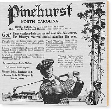 Golf: Pinehurst, 1916 Wood Print by Granger
