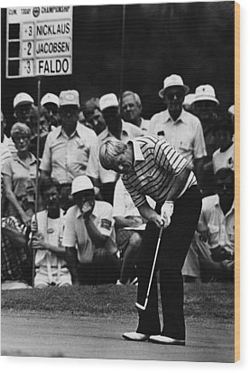 Golf Pro Jack Nicklaus, August, 1984 Wood Print by Everett