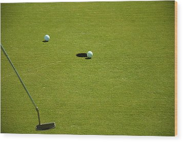 Golf - The Longest Inch Wood Print by Chris Flees