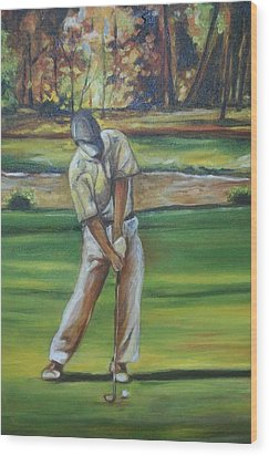 Wood Print featuring the painting Golf Tips by Emery Franklin