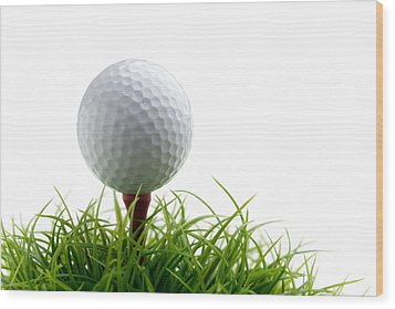 Golfball Wood Print by Kati Molin