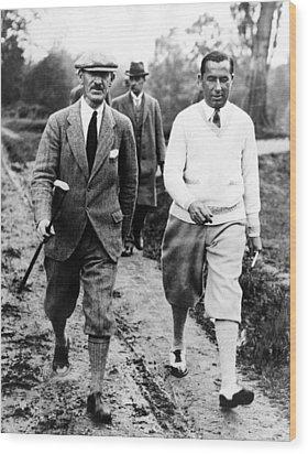 Golfers Abe Mitchell Walter Hagen Wood Print by Everett