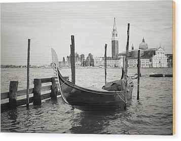 Gondola In Bacino S.marco S Wood Print by Marco Missiaja