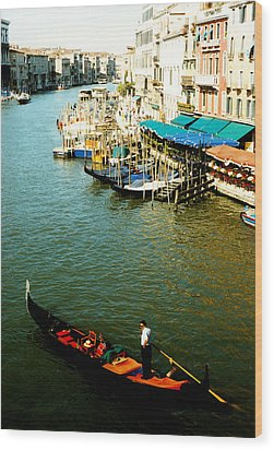 Gondola In Venice Italy Wood Print by Michelle Calkins