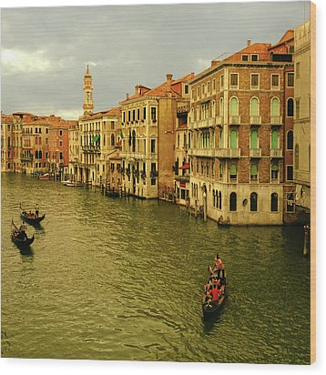 Wood Print featuring the photograph Gondola Life by Anne Kotan