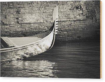 Gondola Wall Wood Print by Marco Missiaja