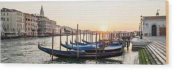 Gondolas Sunrise 00323 Wood Print by Marco Missiaja