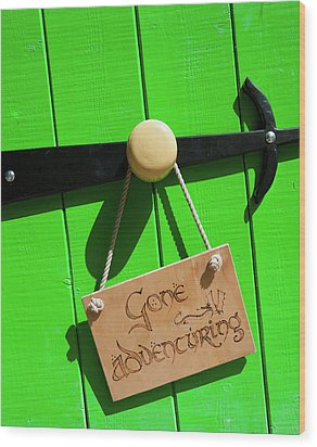 Gone Adventuring Wood Print