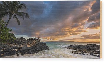 Gone Fishing Wood Print by Hawaii  Fine Art Photography