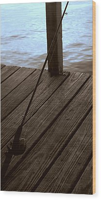 Wood Print featuring the photograph Gone Fishing by Karen Musick