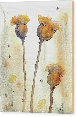 Wood Print featuring the painting Gone To Seed by Dawn Derman
