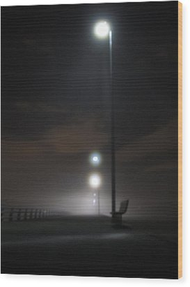 Wood Print featuring the photograph Gone To The Mist by Digital Art Cafe