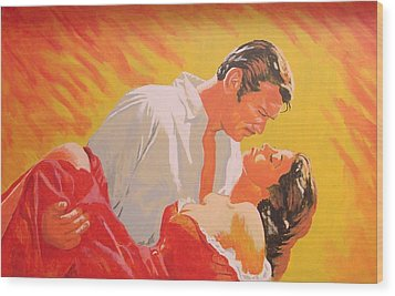 Gone With The Wind Wood Print by Bob Gregory