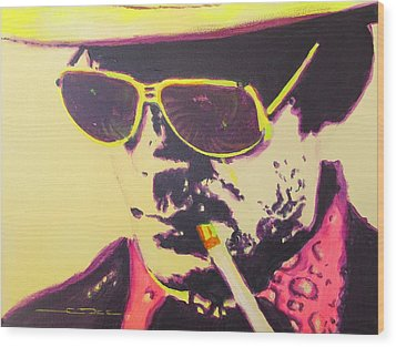 Gonzo - Hunter S. Thompson Wood Print