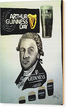 Good Day For A Guinness Wood Print by Pauline Murphy