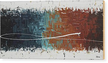 Wood Print featuring the painting Good Feeling - Abstract Art by Carmen Guedez