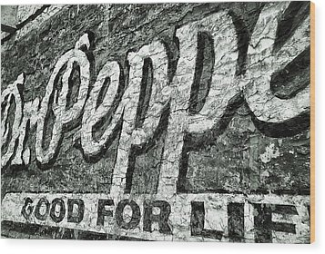 Good For Life Wood Print by Pair of Spades