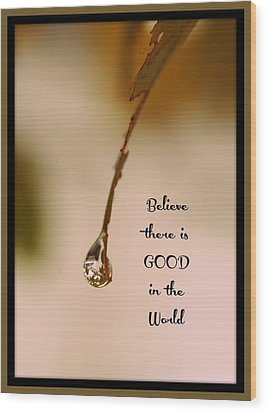 Good In The World Wood Print by Trish Tritz