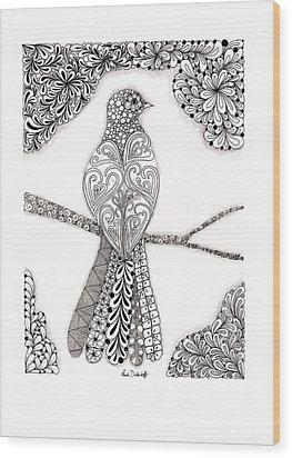 Good Morning Birdie Wood Print by Paula Dickerhoff