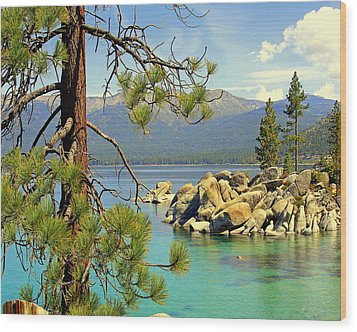 Wood Print featuring the photograph Good Morning From Lake Tahoe by Lynn Bawden