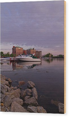 Wood Print featuring the photograph Good Morning Harbor by Joel Witmeyer