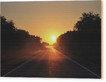 Wood Print featuring the photograph Good Morning by John Knapko