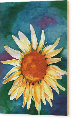 Wood Print featuring the painting Good Morning Sunflower by Sharon Mick