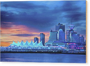 Wood Print featuring the photograph Good Morning Vancouver by John Poon