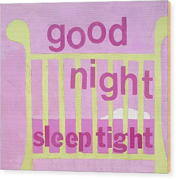 Good Night Baby Wood Print by Laurie Breen
