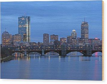 Good Night Boston Wood Print by Juergen Roth