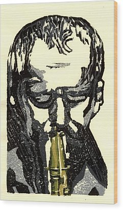 Good Sax Wood Print by John Brisson