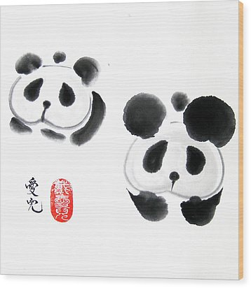 Good Things Come In Pairs Wood Print by Oiyee At Oystudio