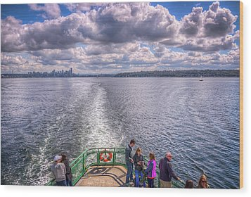 Goodbye Seattle Wood Print by Spencer McDonald