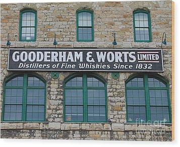 Gooderham And Worts Distillery Wood Print