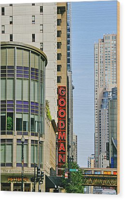 Goodman Memorial Theatre Chicago Wood Print by Christine Till